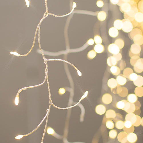 Fairy Curtain Lights, 960 LEDs, 5.5 ft. x 8 ft., Twinkle, Warm White