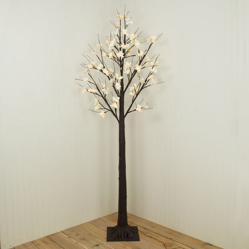 6 Ft Electric Indoor Outdoor Tree, 352 Warm White Lights, 8 Function