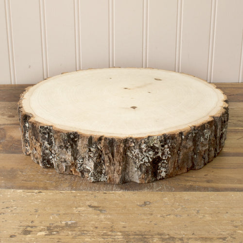 Wood Tree Round, Natural Basswood Slab, Smooth, 9 - 11 inch, Large