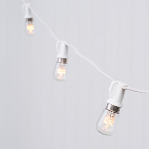 Globe String Lights, Constellation S8 LEDs, 25 ft White C7, Warm White