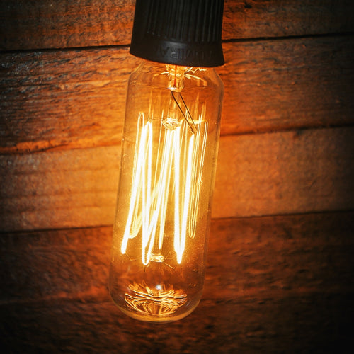 T8 Vintage Antique Edison Bulb, E17, Cage Filament, 15 W, Clear,25 pack