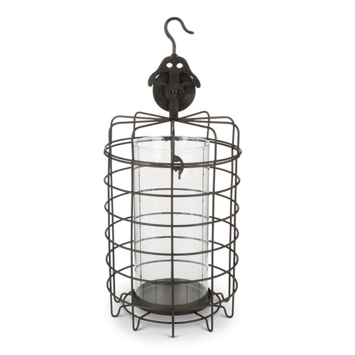 18.3InH Caged Candle Holder