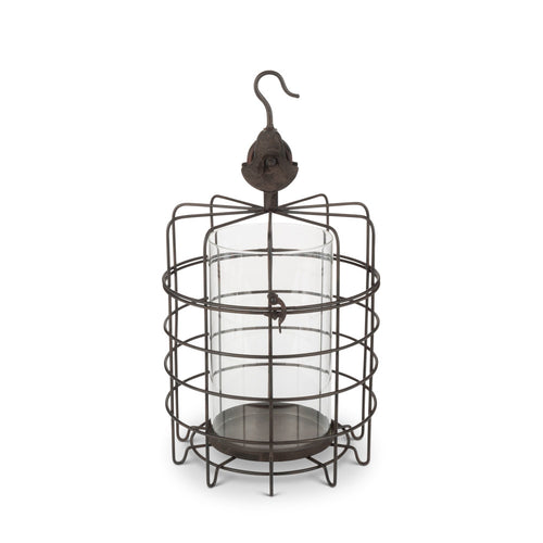 15.2InH Caged Candle Holder