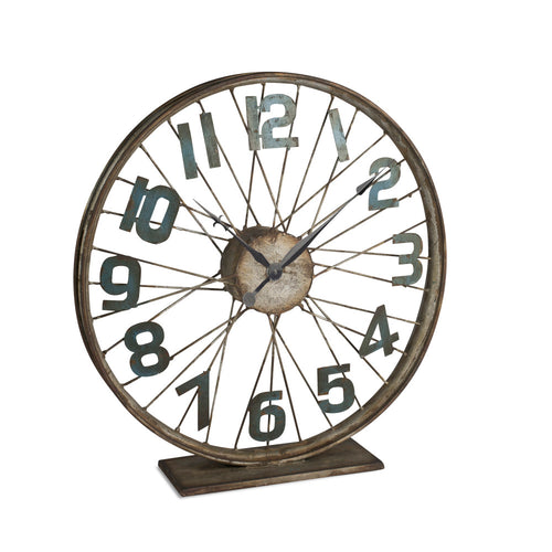 Battery-Operated Bicycle Wheel Clock with Spoked Wheel Effects