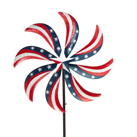 Patriotic Red White & Blue String Lights, 32 Feet, Plug-in, White Wire