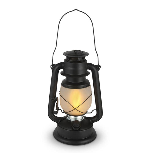 11 Inch Black Hurricane Camping Lantern with FireGlow™ LED, Dimmable