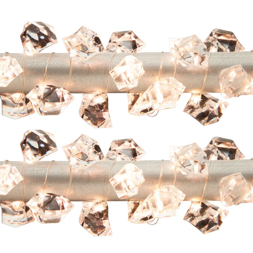 40-Inch Long, Battery-Operated Decorative Acrylic Gem Light String (Set of 2)
