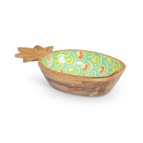 Pineapple Wood Serving Bowl