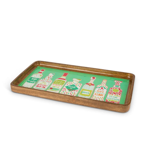Tropical Bar Wood Serve Tray