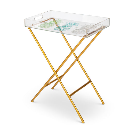 Pineapple Tray Table with Legs