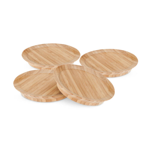 Wine Glass Topper, Bamboo Appetizer Plates