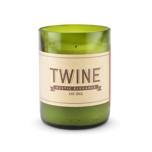 "Grapevine: Upcycled Wine Bottle Unscented Candle (Over 48 Hour Burn Time) ""Rustic Elegance"""