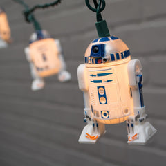 String Lights, Star Wars, R2D2, Outdoor, Green Wire, 11 ft., Plug In