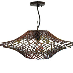 Ragnatela Metal Mesh Pendant Light Lamp, Brown, Light Fixture