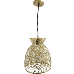 Golden Metal Mesh Pendant Light Lamp, Abstract Light Fixture