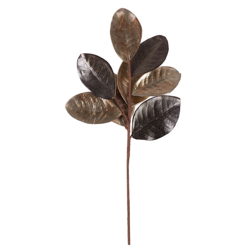 Magnolia Leaf Spray, Artificial Branch, Realistic, 21 inch, Green