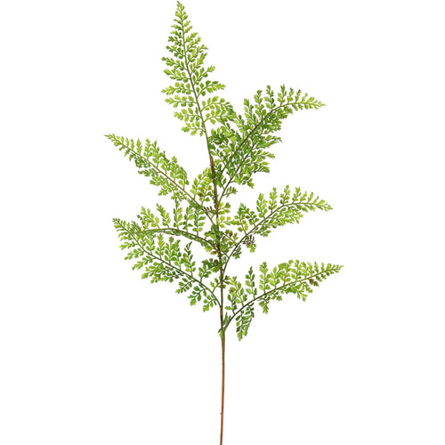 Faux Fern Sprig, Realistic Artificial Branch, 26 inch, Green, 6 Pack