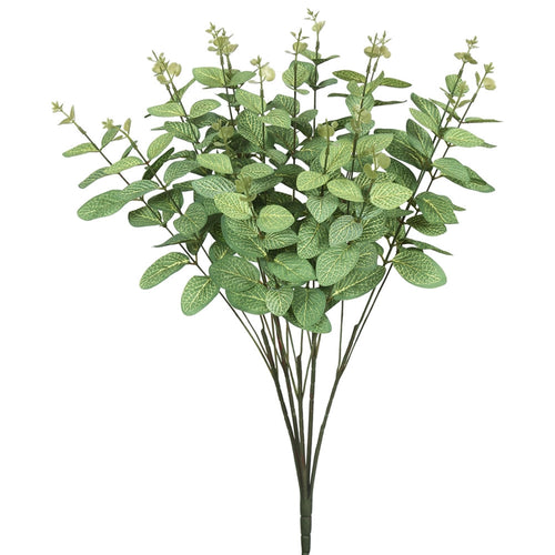 Eucalyptus Sprig , Realistic Decorative, 19 in, Frosted Green