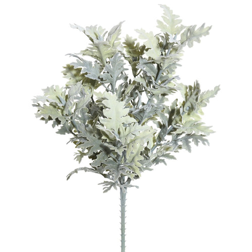 Dusty Miller Sprigs, Artificial Branches, Realistic, 16in, Green, 2 Pk