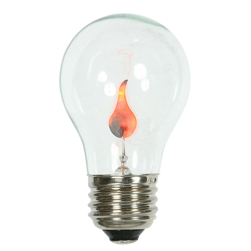 Replacement Bulbs, Flicker Flame, E26/E27 120V, A19, 5 Pk