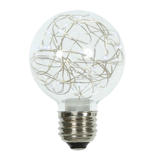 Glass Bulb with Fairy Lights,  G95 5 Inch, E26/E27, Cool White