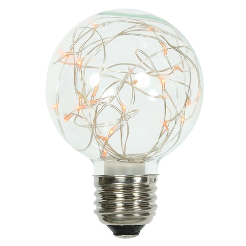 Glass Bulb with Fairy Lights,  G95 5 Inch, E26/E27, Amber