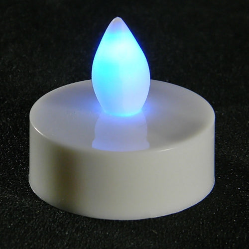 Tea Light Candle, Flickering LED, Blue, Pack of 12