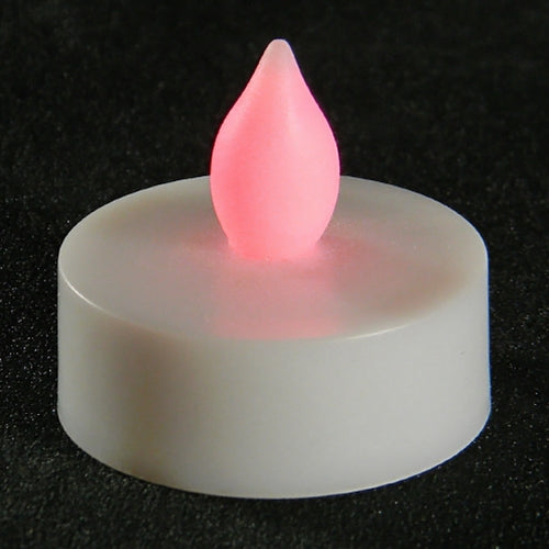 Tea Light Candle, LED Flickering, RED, Pack of 12
