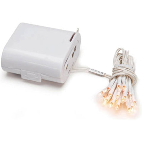 Baby Shower String Lights, 50 Mini Bulbs, White Wire, 17.5 ft., Plug in