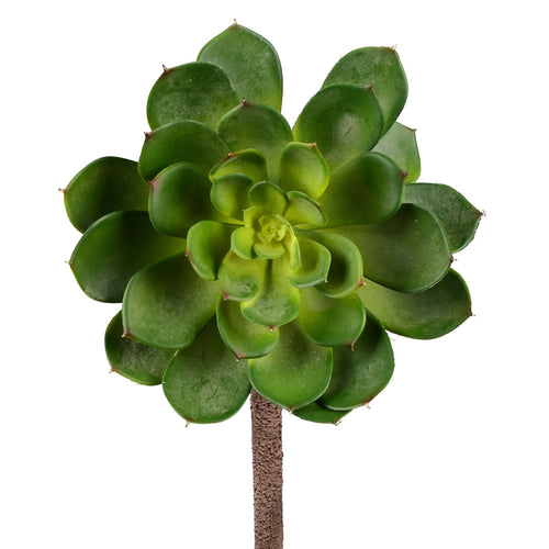 Succulent Rosette, Realistic Flower, 6 inch, Green, 2 Pack