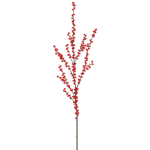Berry Garland, Faux Bendable Branch, Artificial Vine, 3.6 feet, Red