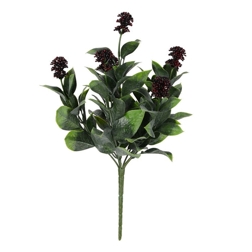 Berry Fiscus Faux Bendable Bush, Purple Berries, 13.5 In, 3 Pk