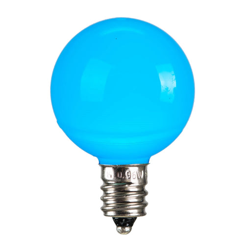 LED Replacement Bulb, Ceramic, G30 Globe, E12, Teal , 25 Pk