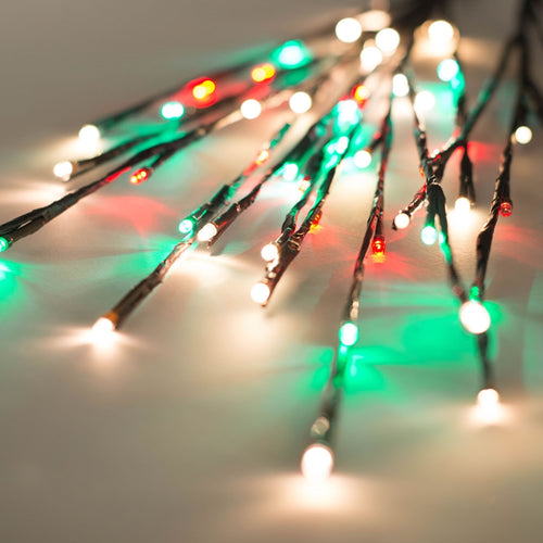 Lighted Brown Branches, 36 in. LED, Electric, Outdoor, Red Wht Green