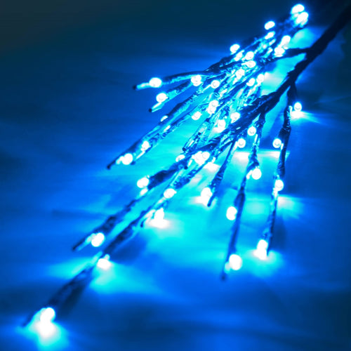Lighted Brown Branches, 36 in. LED, Electric, Outdoor, Teal Blue