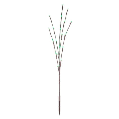 Lighted Brown Branches, 36 in. LED, Electric, Outdoor, Lime Green