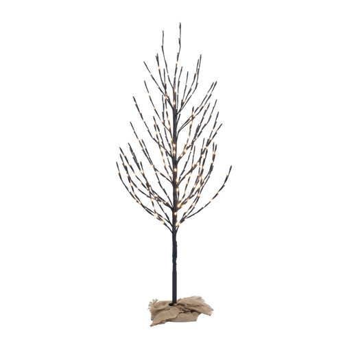 Lighted Tree, LED Lights, Brown Tree, 280 Lights, 4 Feet, Warm White