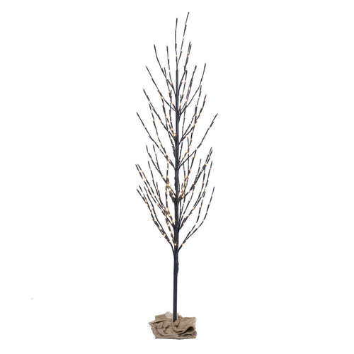 Lighted Tree, LED Lights, Brown Tree, 336 Lights, 5 Feet, Warm White