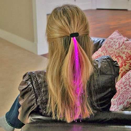 Glowbys Light-up Fiber-Optic Hair Barrette, PINK