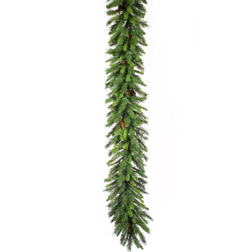 9 Ft Cheyenne Garland with Pine Cones, 14 Inches Wide