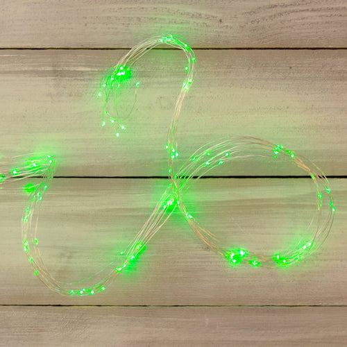 Fairy Lights, 6 Strand Spray, 180 LEDs, 9 ft, Plug In, Green