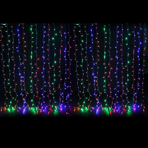 LED String Lights, 50 Wide Angle Bulbs, 25 ft, White Wire, Plug , Blue