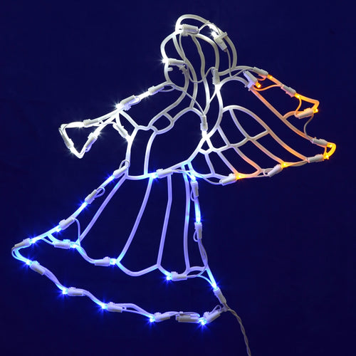 Window Decoration, Christmas Angel, 35 LEDs, 16.5 inches, Plug-in