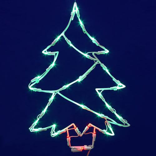 Window Decoration, Christmas Tree, 35 LED Lights, 18 inches tall