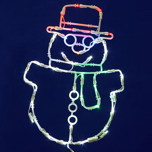 Window Decoration, Winter Snowman, 17 Inch, 35 LED Lights