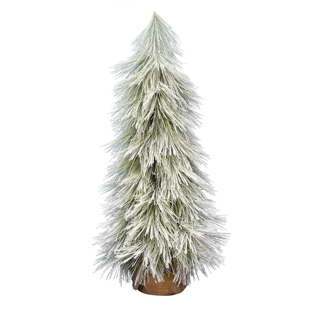 4 Foot Christmas Tree.Buy Flocked Pine Tree Christmas Tree Coutler Pine Burlap Base 4 Foot At Lights For All Occasions For Only 119 55