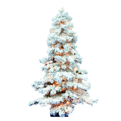 Assorted, LED-Lighted Pine Trees with Burlap Base (Set of 3)