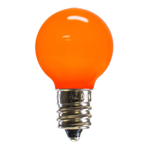 LED Replacement Bulb, Ceramic, G30 Globe, E12, Orange , 25 Pk
