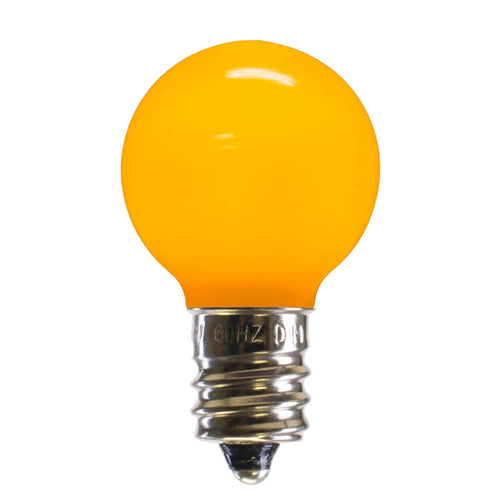 LED Replacement Bulb, Ceramic, G30 Globe, E12, Yellow, 25 Pk