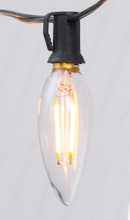 Replacement Bulb, B10 / C10 Dimmable Filament LED, E12 Base, 2 Watts, Warm White